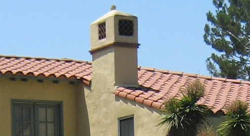 Tile roof and chimney, Pasadena